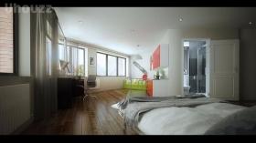全新的一居室独立卫浴套间
