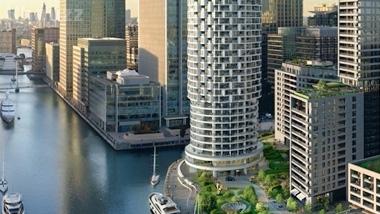 伦敦 金丝雀码头 鸟巢设计师打造One Park Drive公寓