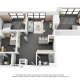 3 Bedroom Bed Space-Private Bath (3x2 PB)