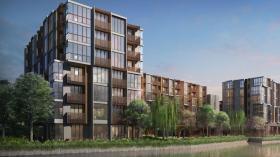 曼谷素坤逸沿线Kawa Haus临水度假风格公寓