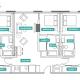 3 Bed 3 Bath - 3A - Floors 2-7