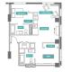 2 Bed 2 Bath - 2E - Floors 25-32