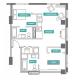 2 Bed 2 Bath - 2E - Floors 2-7