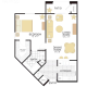 1 Bed 1 Bath PLAN II