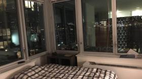 纽约LIC河景房大阳台2B2B客厅转租