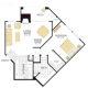 1 Bed 1 Bath PLAN IV-346763