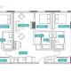 3 Bed 3 Bath - 3A - Floors 17-24