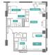2 Bed 2 Bath - 2E - Floors 8-16