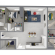 3 bed 2 bath penthouse shared bath