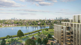 Lake View Apartment in North London