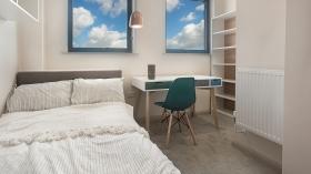靠近卡迪夫大学的一间卧室