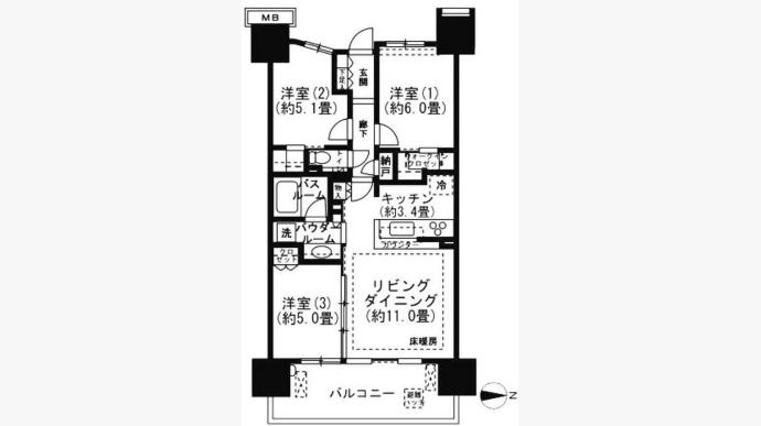东京東陽2丁目 浴室暖房乾燥機 新房出租-390220
