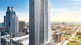 """蒙特利尔市中心黄金地段摩天大楼""""加拿大人塔""""一房一厅高层豪华"""